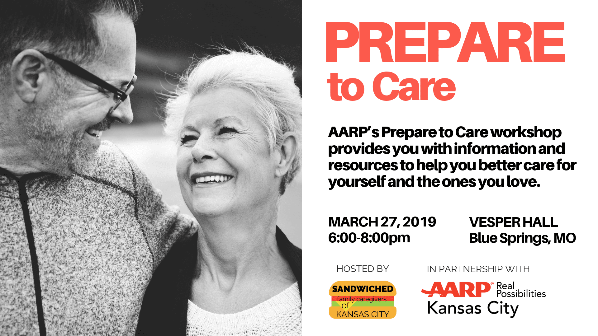 Banner: Prepare to Care Vesper Hall March 27, 2019 6-8pm
